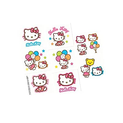 Hello Kitty will always be popular because of that sweet face that looks at kids so peacefully. These come 16 tattoos per pack. Use them at the party for a cool tattoo station, or divide them up evenly and cut out a couple of them to put in each chil...