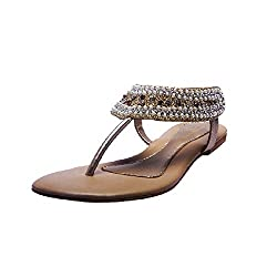 Lamere Womens Fashion Synthetic Gold Heels (LA-338) 37