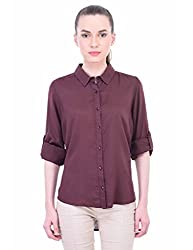 Oxolloxo Women solid brown shirt
