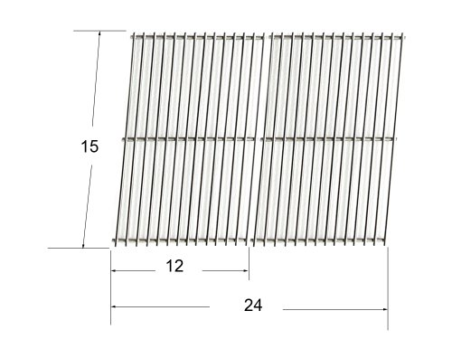 61702 - Arkla, Broil King, Charbroil, Charmglow, Coleman, Grill Master, Jacuzzi, Kenmore, Sterling/Shepherd And Sunbeam Gas Grill Replacement Stainless Steel Cooking Grid front-273821