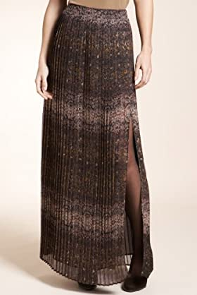 Autograph Snake Print Pleated Maxi Skirt