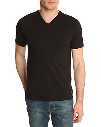 Polo Ralph Lauren Homme 2 Pack V T-Shirts, Noir, Small