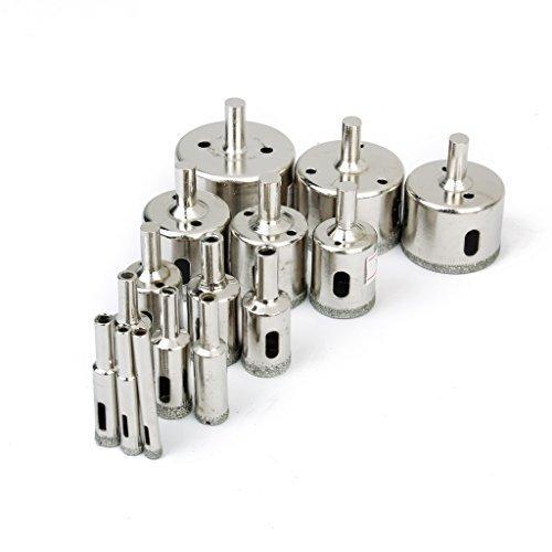 15-Stk-gesetzter-Beschichtete-Bohrer-Lochsge-fr-Glasfliesen-Granit-Marmor-6mm-50mm