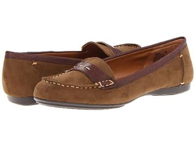 Mootsies Tootsies Shae Womens Slip On Loafers Shoes Dark Green/Brown Fabric 7.5