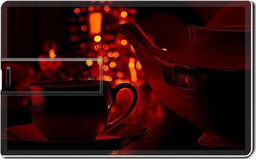 Coffee Cup Pot Romantic Light 4G Usb Flash Drive 2.0 Memory Stick Msd Usb Credit Card Size Customized Support Services Ready Windows Mac Storage External