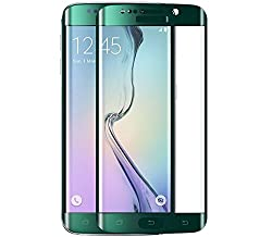Samsung Galaxy S6 Edge Curve Tempered Glass Screen Protector ( GREEN )