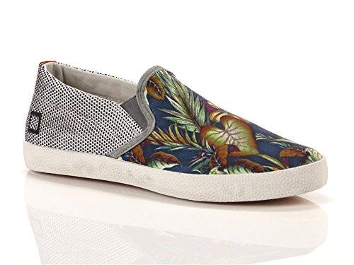 Date, Uomo, Wing Fantasy Palm, Tessuto tecnico/Canvas, Sneakers, Bianco, 44 EU