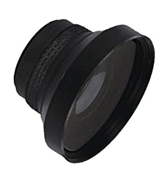Sony HDR-CX300 0.16x High Grade Fish-Eye Lens (180° Diagonal Angle of View) + Stepping Ring (30mm-37mm) + Nwv Direct Micro Fiber Cleaning Cloth