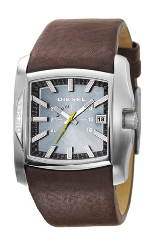 Diesel DZ1317Gents Brown Leather Strap Blue Dial Watch
