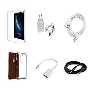 High Quality Combo of LeTV 1s Temper Glass + 2 Amp USB Charger + Type C Data ...