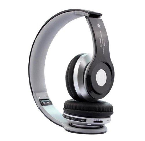 Towallmark 1Pc Black Functional Foldable Wireless Bluetooth Stereo Headset Headphones