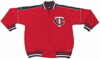 MLB Minnesota Twins Contrast Shoulder Track Jacket