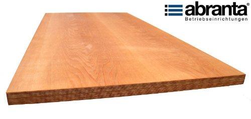 Multiplexplatte-Buche-150cm-x-70cm-x-4cmWerkbankplatte-Werkbank-Arbeitsplatte