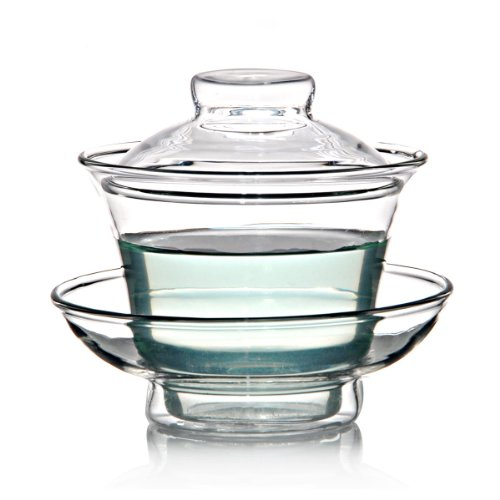 Fantastic Deal! Chinese Suya Glass Gaiwan Teapot Tea Cup 150ml Sancai wan