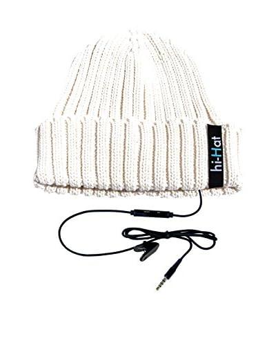 hi-Fun  Cappellino Audio Hi-Hat Turn Up Bianco