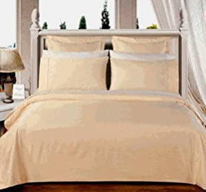 Ivory King/Calking size Solid Down Alternative 4-pc Comforter Set,100% Egyptian cotton, 550 Thread count