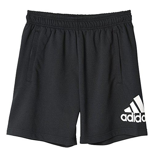 Adidas Ess Logo Sh Ft Short per Uomo, Nero/Bianco, L