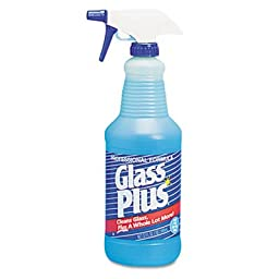 DVO94378 Glass Cleaner, 32 oz Trigger Spray Bottle