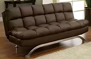 Aristo Bi-Cast Leather Convertible Sofa Color: Dark Espresso
