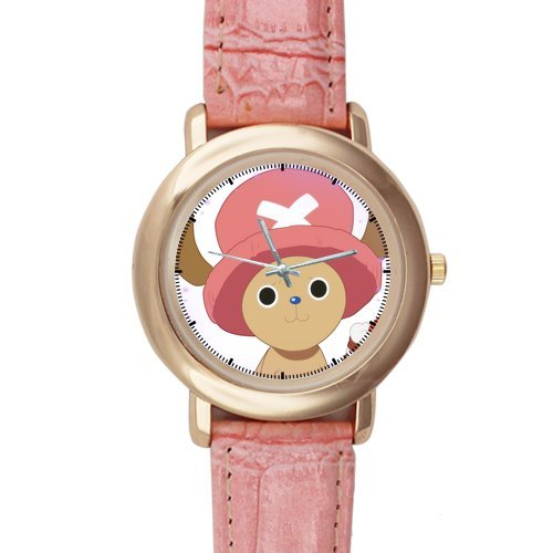 Adorable One Piece Pink Leather Alloy High-Grade Watch