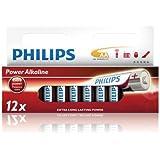 Philips - Pile Alcaline - AA x 12 - Powerlife (LR6)