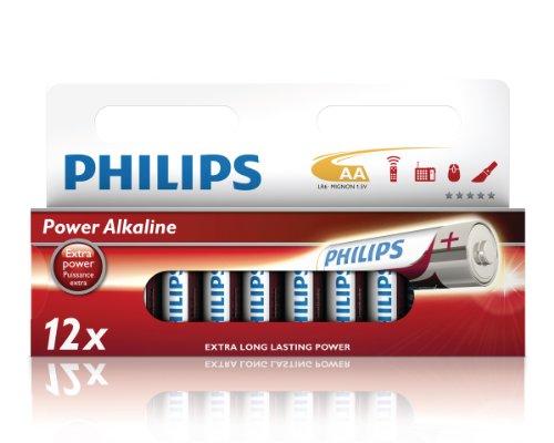 Philips LR6P12W/10 Power Alkaline Batteria, Confezione da 12 Pezzi
