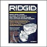 Ridgid 23738 VF3501 Pleated Air bag for Small Vacuums
