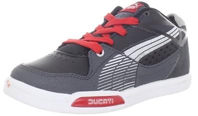 Puma Hypermoto Low Ducati JR Sneaker (Infant/Toddler/Little Kid/Big Kid),Black/Puma Silver/Dark Shadow,1.5 M US Little Kid