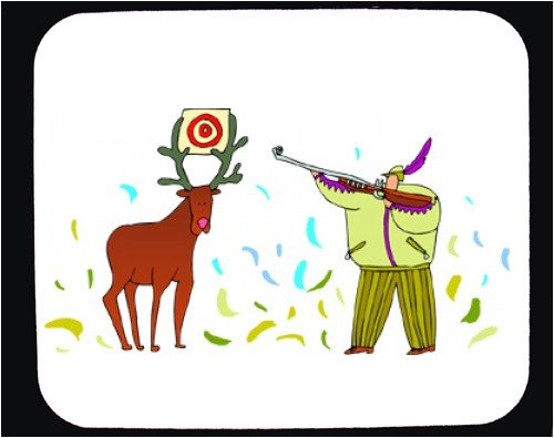 Decorated Mouse Pad with deer, gun, buck, target, hunter