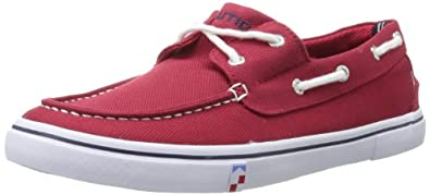 Nautica Men's Galley Boat Shoe,Red,7.5 M US