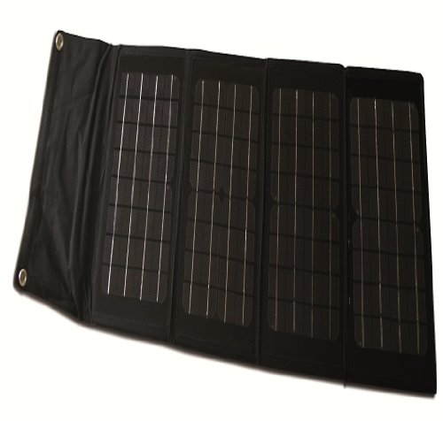 40-Watt Folding Monocrystalline Solar Panel with Laptop Charger Adaptors (40w Solar Panel Folding compare prices)