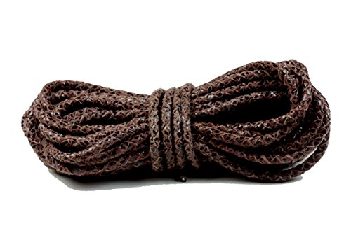 Bolo Leather Cord, 4.0 Millimeter Reptile Brown, 10 Meters