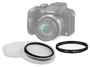 Filtre UV 52 mm DURAGADGET protecteur pour votre appareil photo Panasonic FZ48 FZ100 FZ150 ou tout appareil photo muni d'un objectif de 52mm