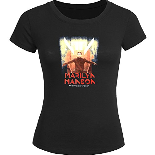 Marilyn Manson For 2016 Womens Printed Short Sleeve tops t shirts