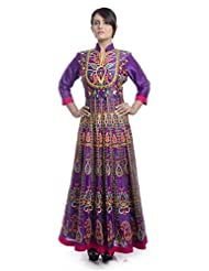 Nitin Gera Designs - Multi Color Aari Work Kalidar