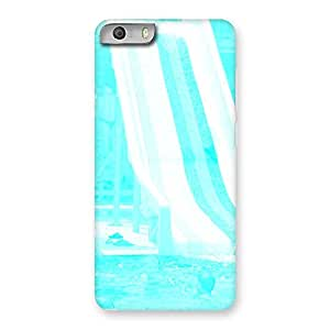 Cute Ride Cyan White Back Case Cover for Micromax Canvas Knight 2