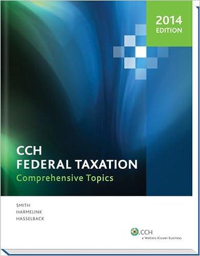 Federal Taxation: Comprehensive Topics (2014)
