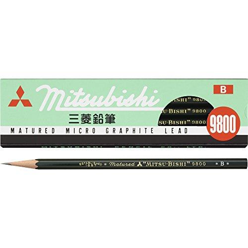 三菱鉛筆 鉛筆 事務用9800 B 12本入 K9800B