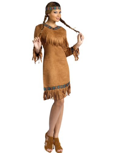 Native American Indian Costume Dress Headband Western Womens Theatrical Costume