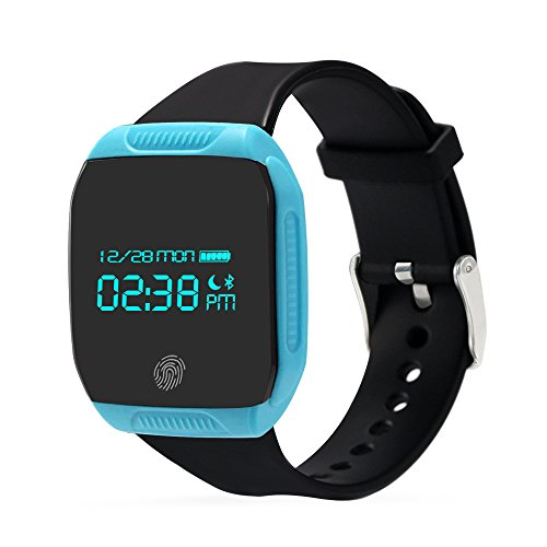 Otium Fitness Tracker IP67 Waterproof Bluetooth Smart Pedometer Tracker Sports Bracelet Wireless Activity Wristband Sleep Monitor Remote Camera with Steps Counter
