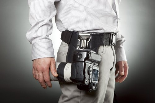 Spider Professional Camera Holster Hip Carry System and a Bonus Strap & Neck Strap Combo Kit For Nikon D1, D2, D3, D3S, D3X, D4, D4S, D40, D50, D60, D70S, D80, D90, D700, D300, D300S, D610, D700, D800, D800E, D600, D7000, D7100, D90, D5100, D5200, D5000, D3100, D3200, D3000, D3300, FM10, F100 Digital SLR Cameras