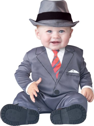 InCharacter Baby Boy's Businessman Costume, Grey, Small