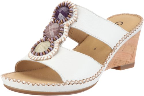 Gabor Shoes Women's Mule White/White UK 6.5