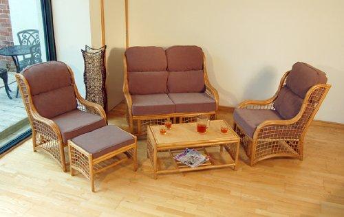 Home & Garden Direct Cadiz Natural Cane Conservatory Suite