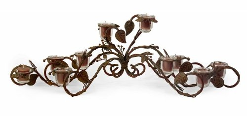 IMAX 84004 Wrought Iron and Glass Candelabra