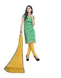 Bhagwati Women's Georgette Embroidered Unstitched Dress Material (saheli6_Green_Freesize)