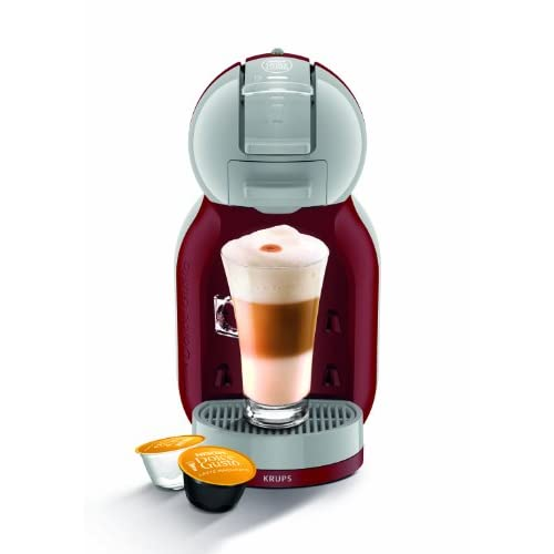 NESCAFÉ Dolce Gusto Coffee Machine KP120540 Mini Me Automatic Play and Select by Krups - Red Artic Grey
