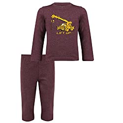 Clifton Baby Boy Pyjama Set -Deep Purple Melange -LIFT UP -(12-18)M