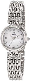 Bulova Womens 96P122 Diamond Petite Classic Watch