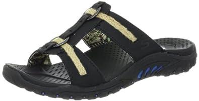 "Women's Skechers Slide Sandals ""Reggae-Lion Zion"" - Black (#48144) (8, Black)"